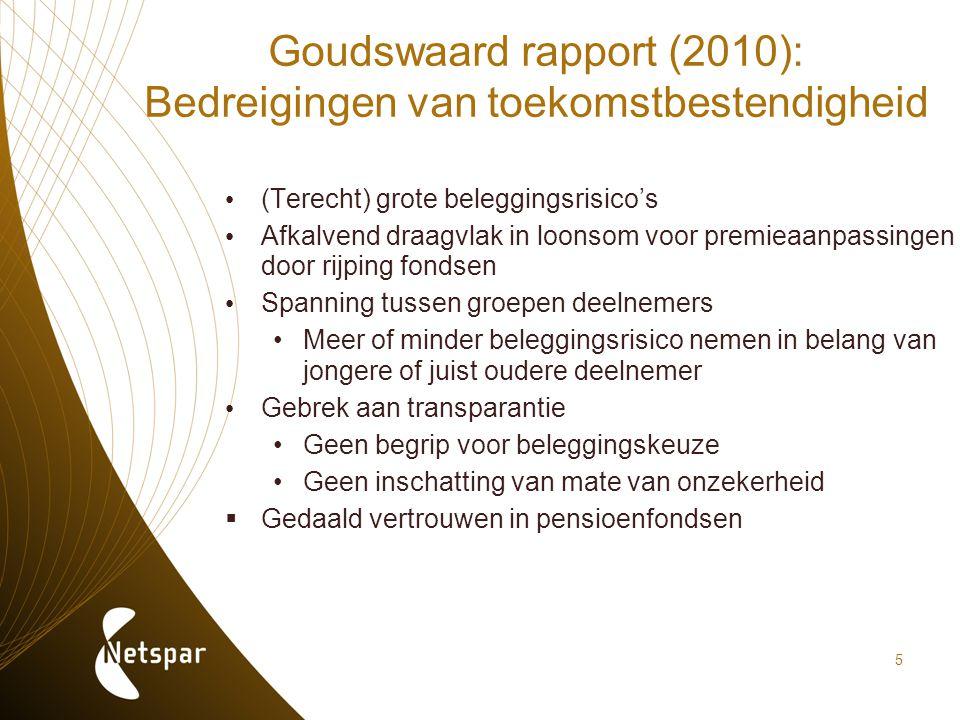 Goudswaard rapport (2010): Bedreigingen van toekomstbestendigheid