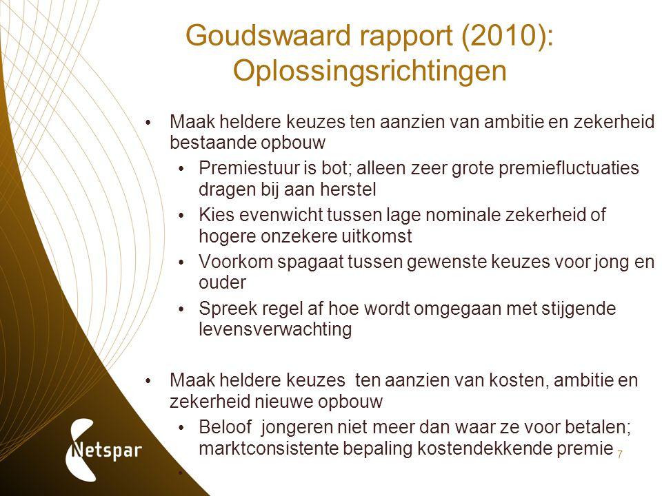 Goudswaard rapport (2010): Oplossingsrichtingen