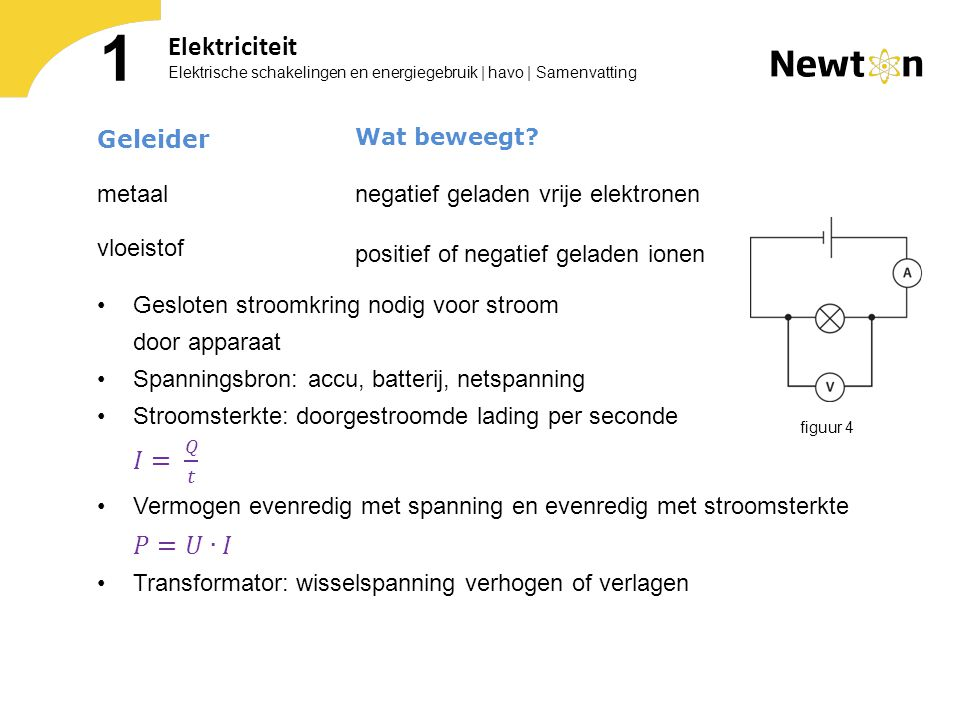 1 Elektriciteit Geleider negatief geladen vrije elektronen metaal