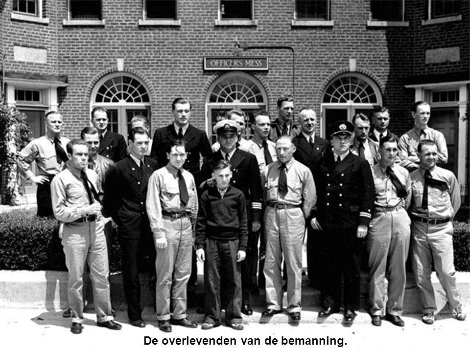 De overlevenden van de bemanning.