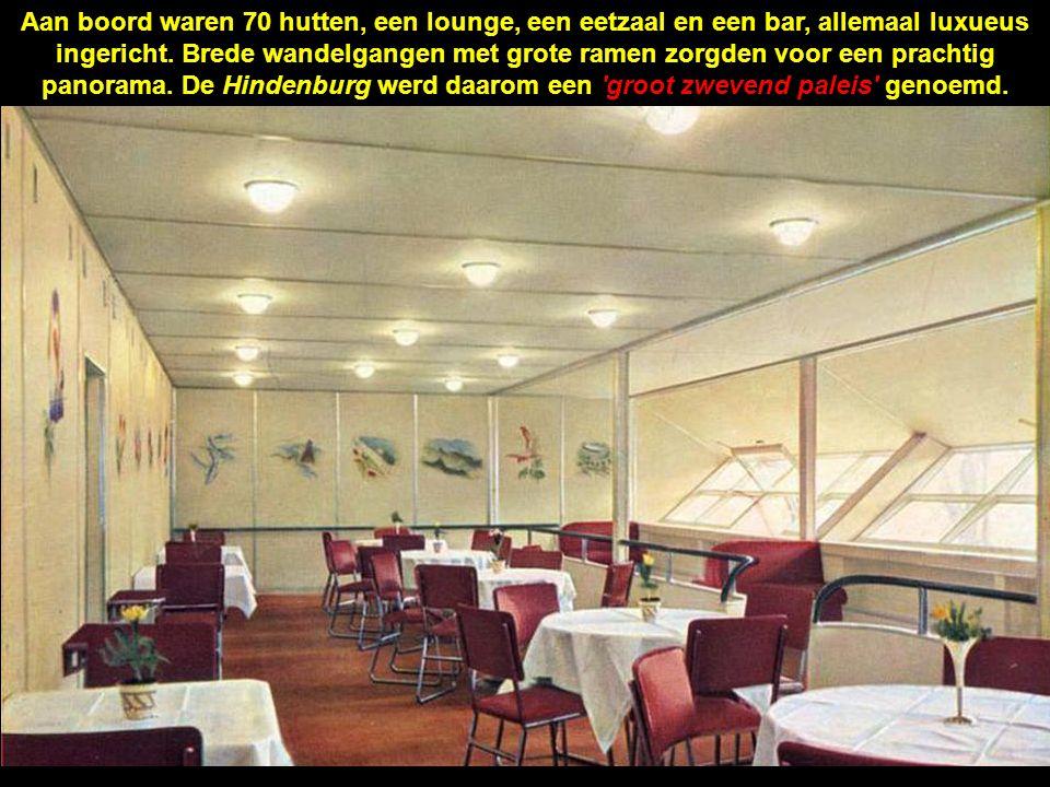Aan boord waren 70 hutten, een lounge, een eetzaal en een bar, allemaal luxueus ingericht.