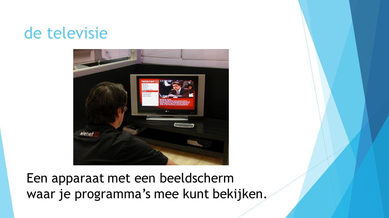 de televisie Een apparaat met een beeldscherm