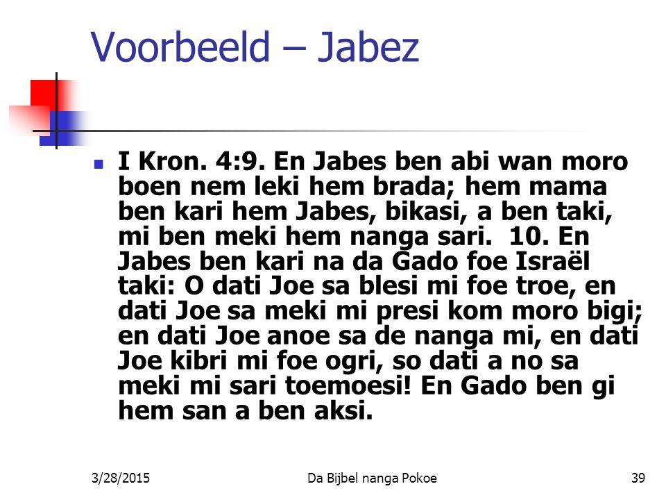 Voorbeeld – Jabez