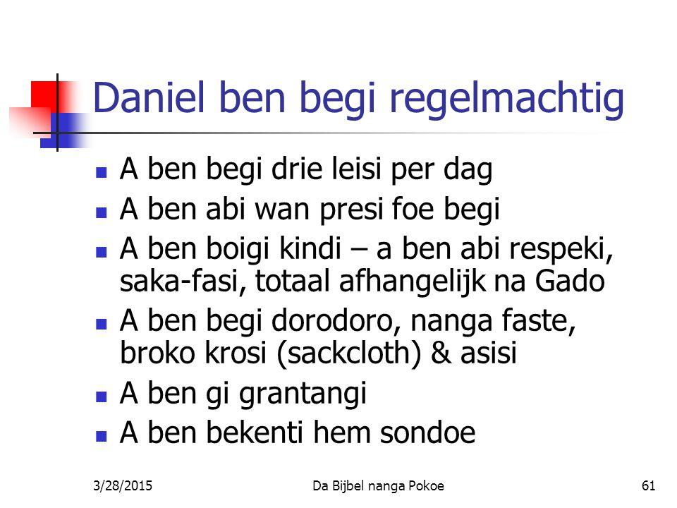Daniel ben begi regelmachtig
