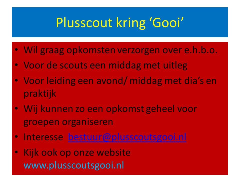 Plusscout kring 'Gooi'