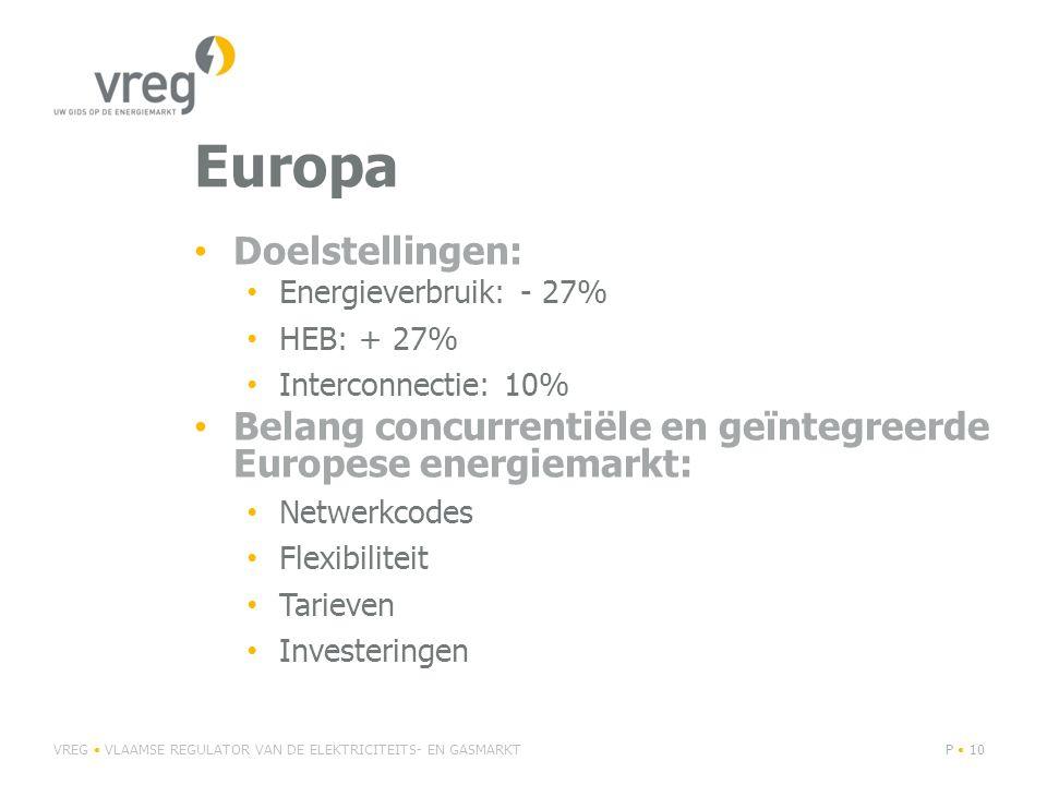 Europa Doelstellingen: