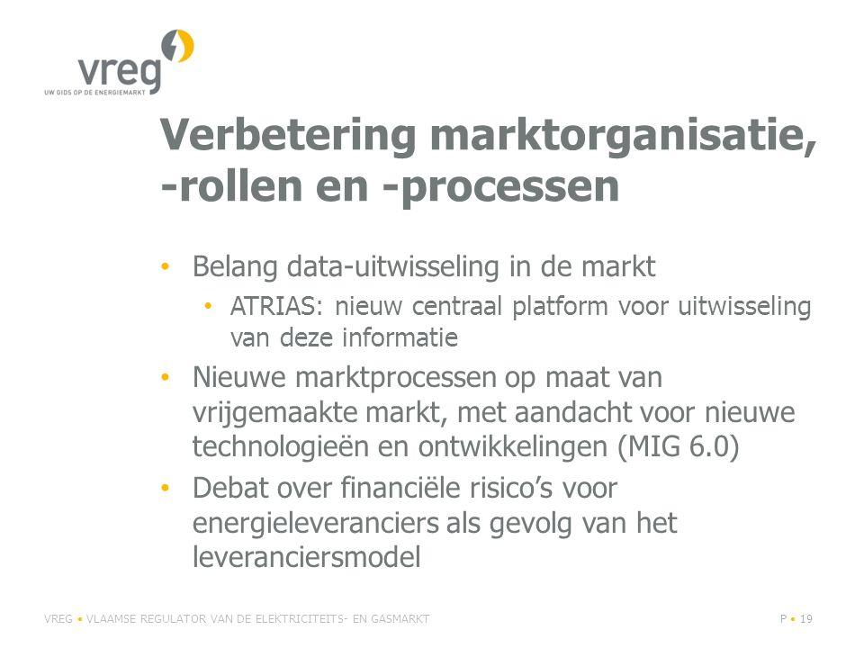 Verbetering marktorganisatie, -rollen en -processen