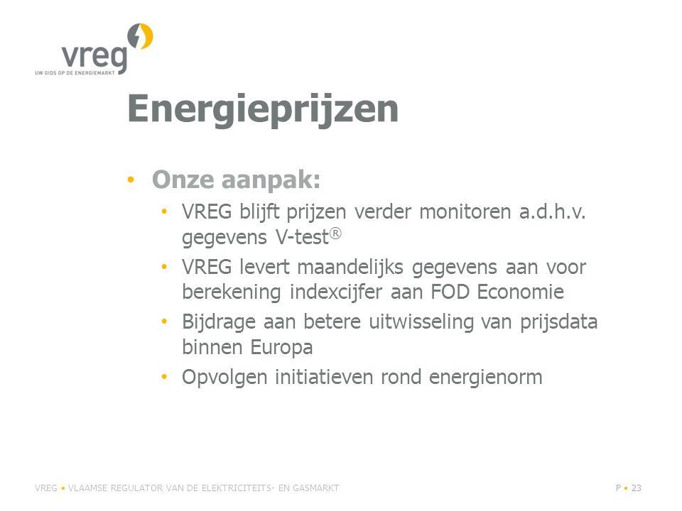 Energieprijzen Onze aanpak: