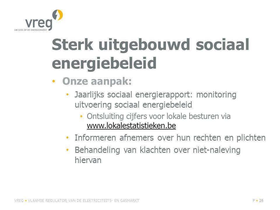Sterk uitgebouwd sociaal energiebeleid