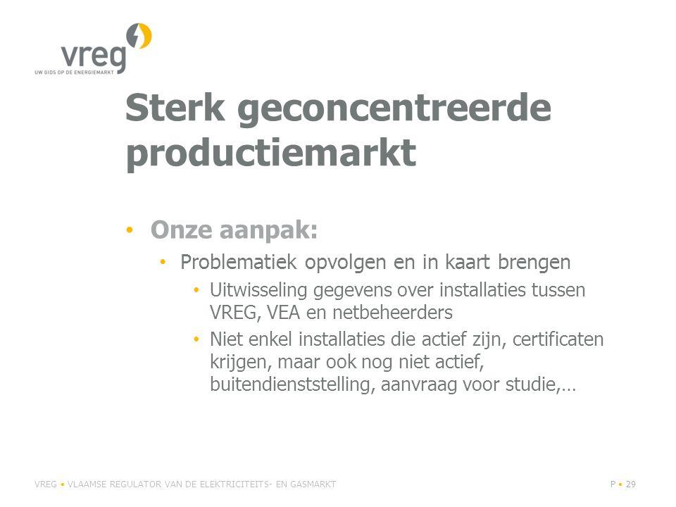 Sterk geconcentreerde productiemarkt
