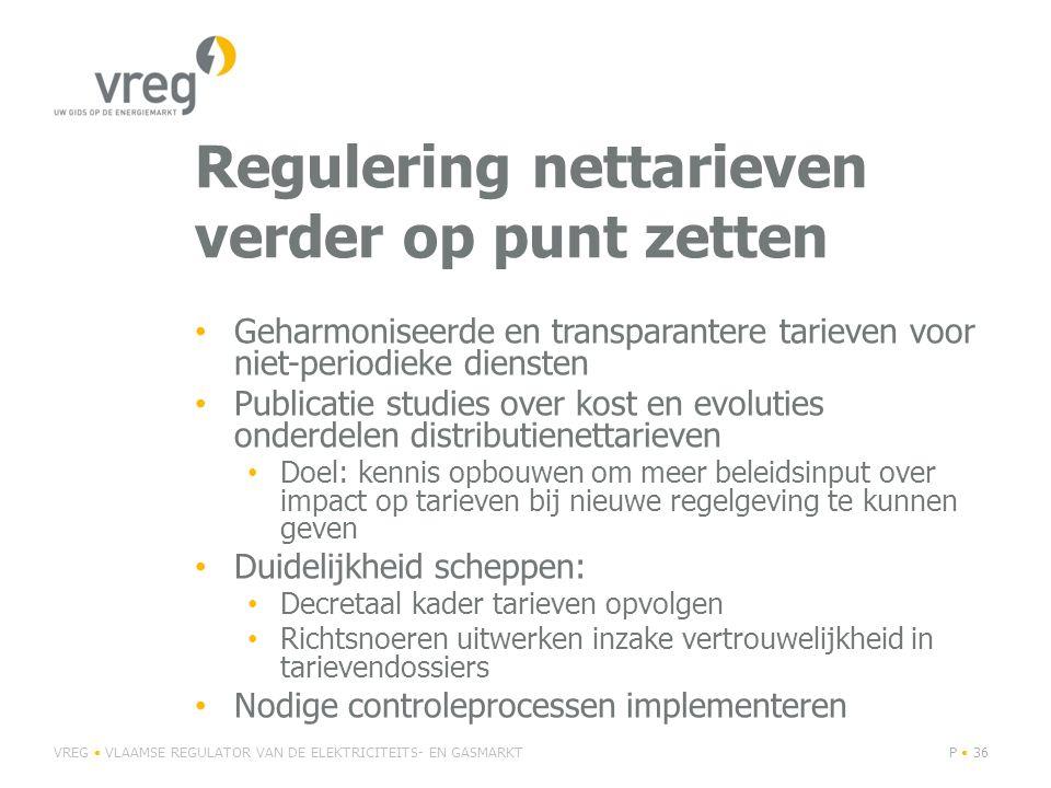 Regulering nettarieven verder op punt zetten