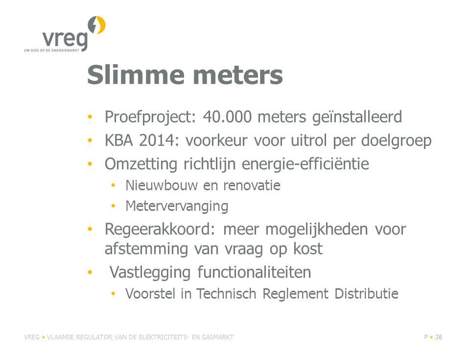 Slimme meters Proefproject: 40.000 meters geïnstalleerd