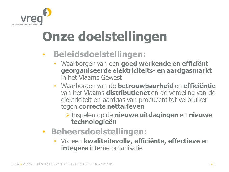 Onze doelstellingen Beheersdoelstellingen: Beleidsdoelstellingen: