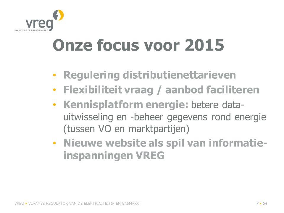 Onze focus voor 2015 Regulering distributienettarieven