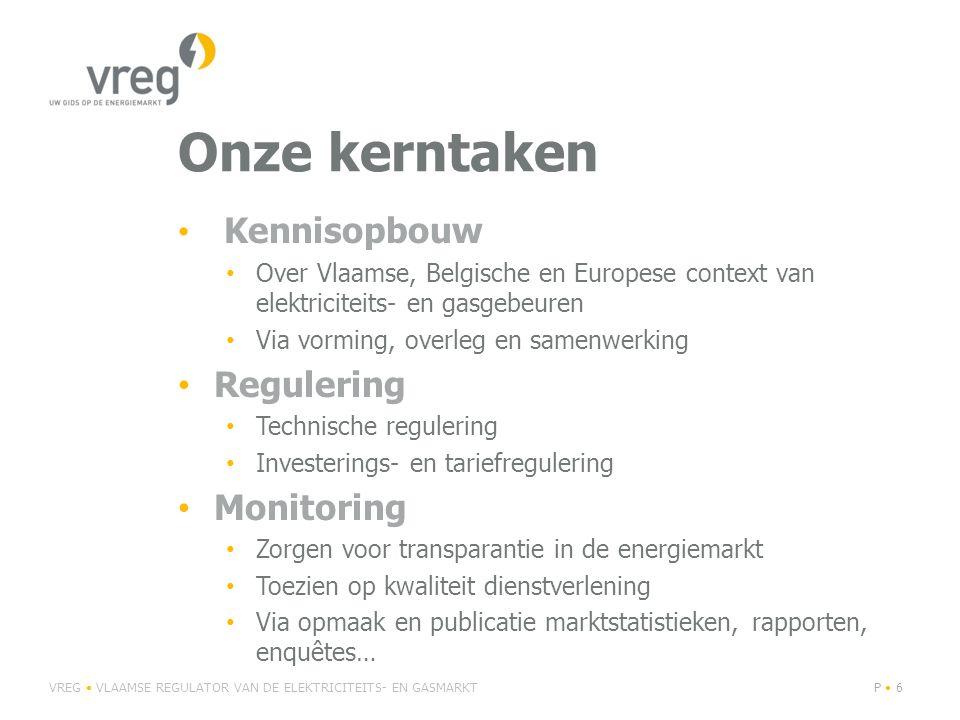 Onze kerntaken Regulering Monitoring Kennisopbouw