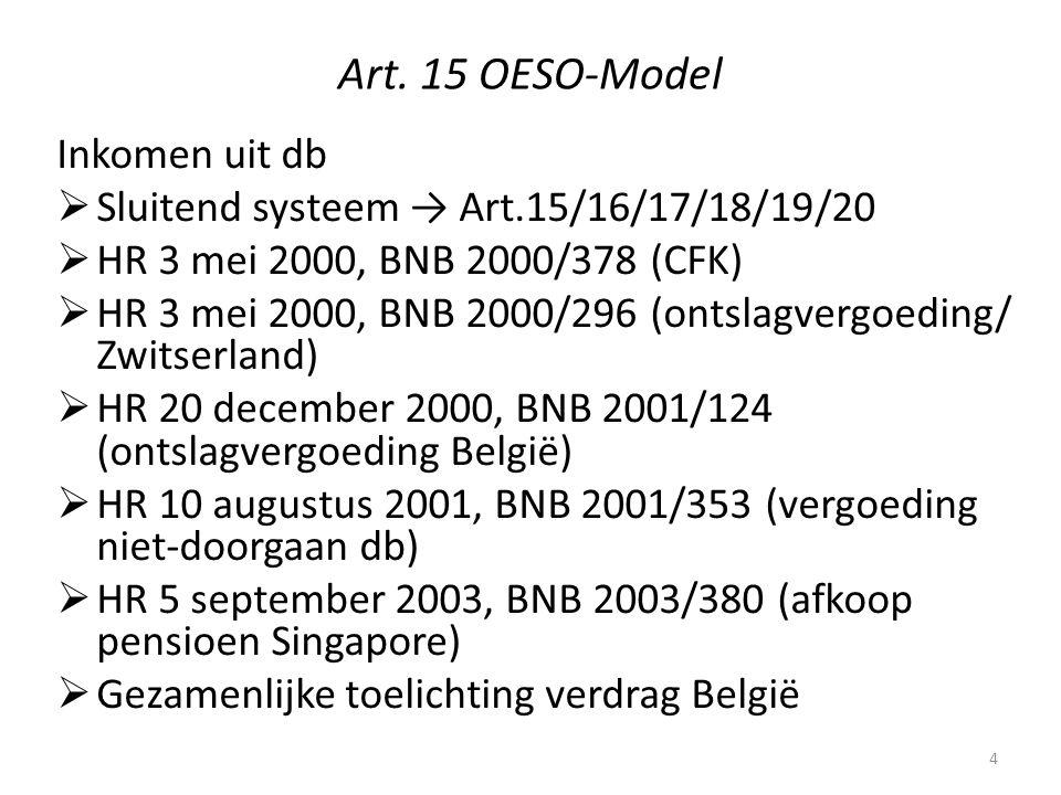 Art. 15 OESO-Model Inkomen uit db