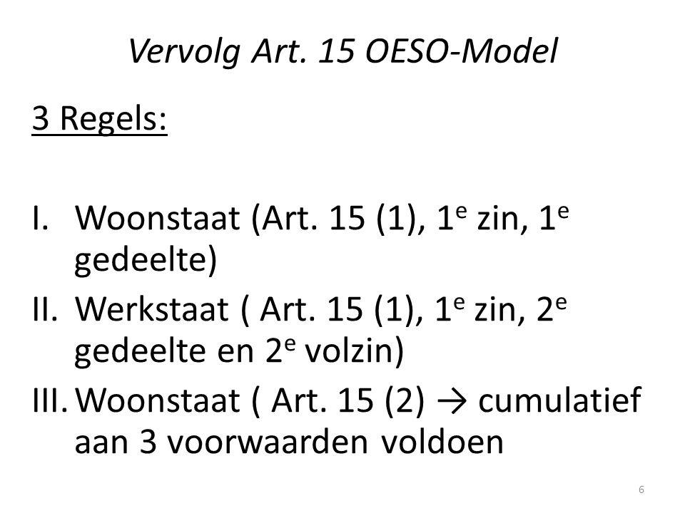 Vervolg Art. 15 OESO-Model