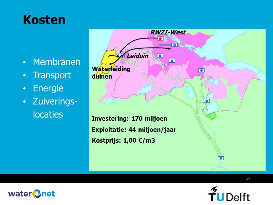 Kosten Membranen Transport Energie Zuiverings- locaties RWZI-West