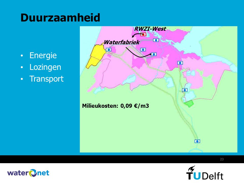Duurzaamheid Energie Lozingen Transport RWZI-West Waterfabriek