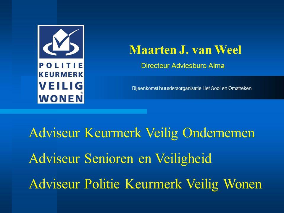 Adviseur Keurmerk Veilig Ondernemen Adviseur Senioren en Veiligheid