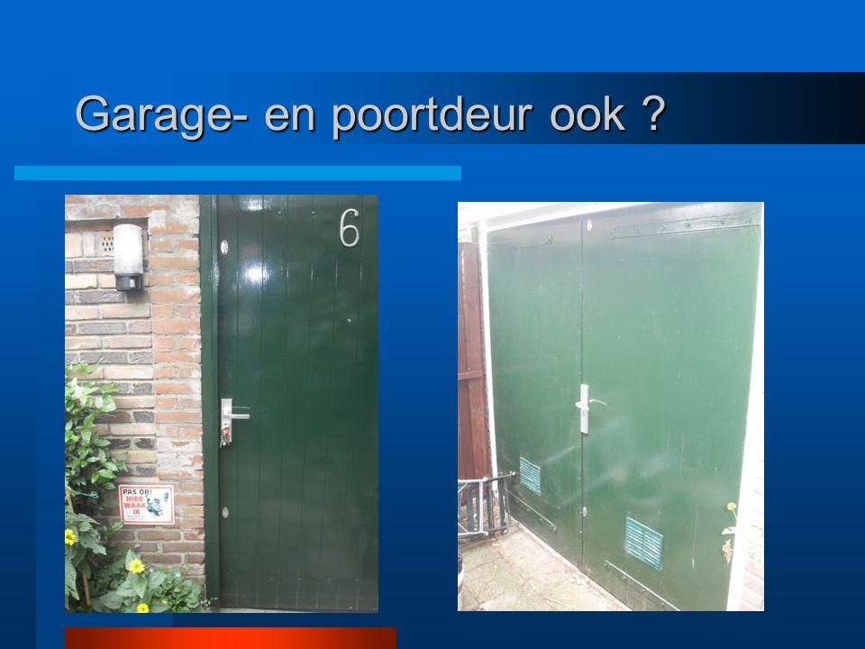 Garage- en poortdeur ook