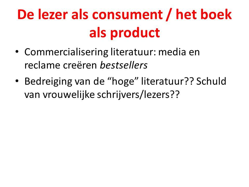 De lezer als consument / het boek als product
