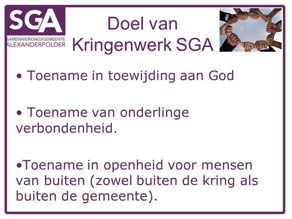 Doel van Kringenwerk SGA