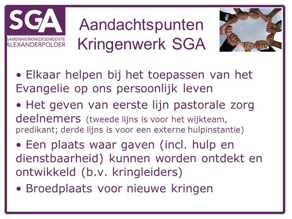 Aandachtspunten Kringenwerk SGA