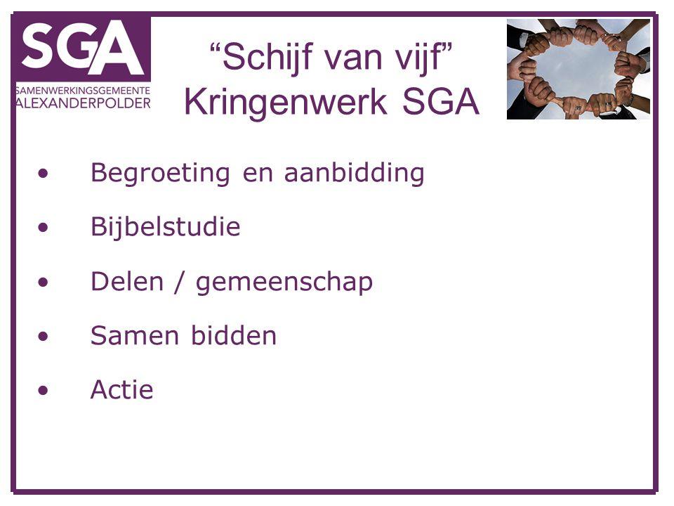Schijf van vijf Kringenwerk SGA