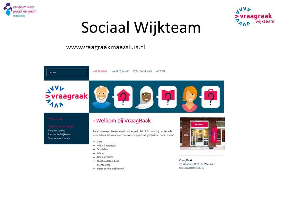 Sociaal Wijkteam www.vraagraakmaassluis.nl