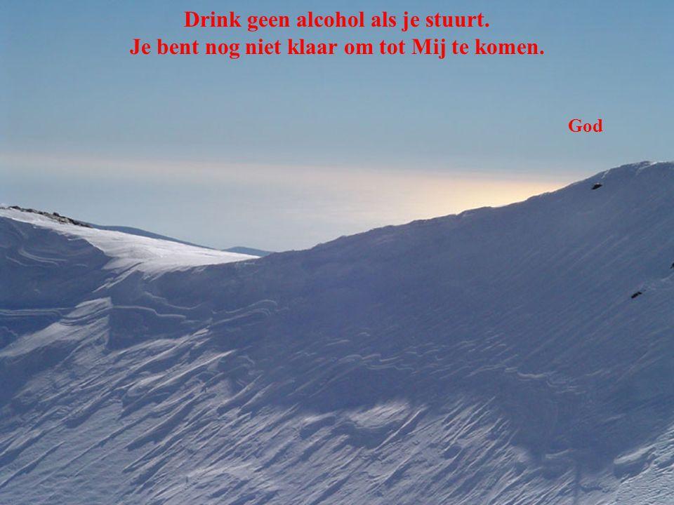 Drink geen alcohol als je stuurt