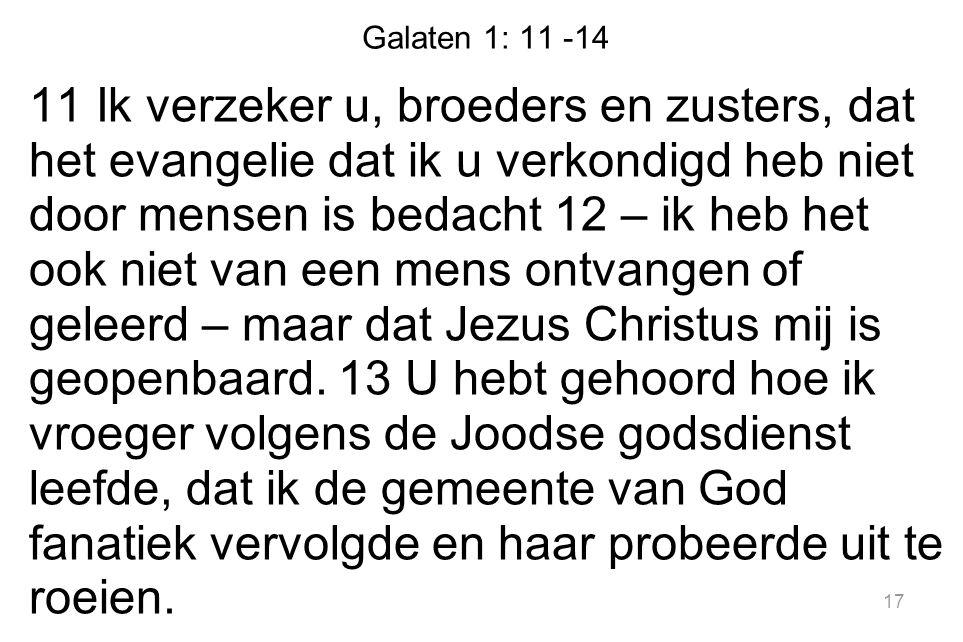 Galaten 1: 11 -14