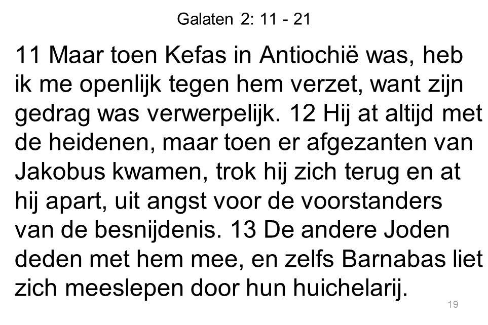 Galaten 2: 11 - 21