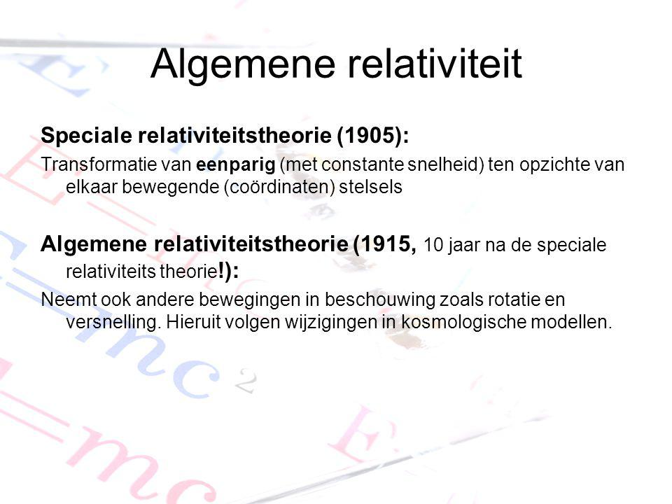 Algemene relativiteit