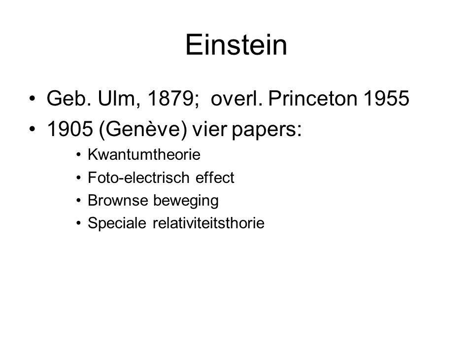 Einstein Geb. Ulm, 1879; overl. Princeton 1955
