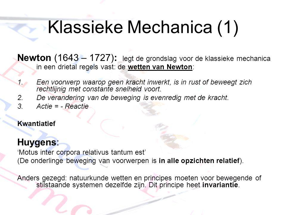 Klassieke Mechanica (1)
