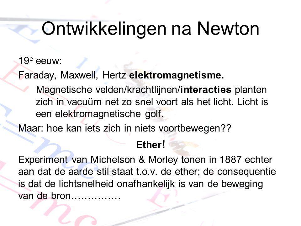 Ontwikkelingen na Newton