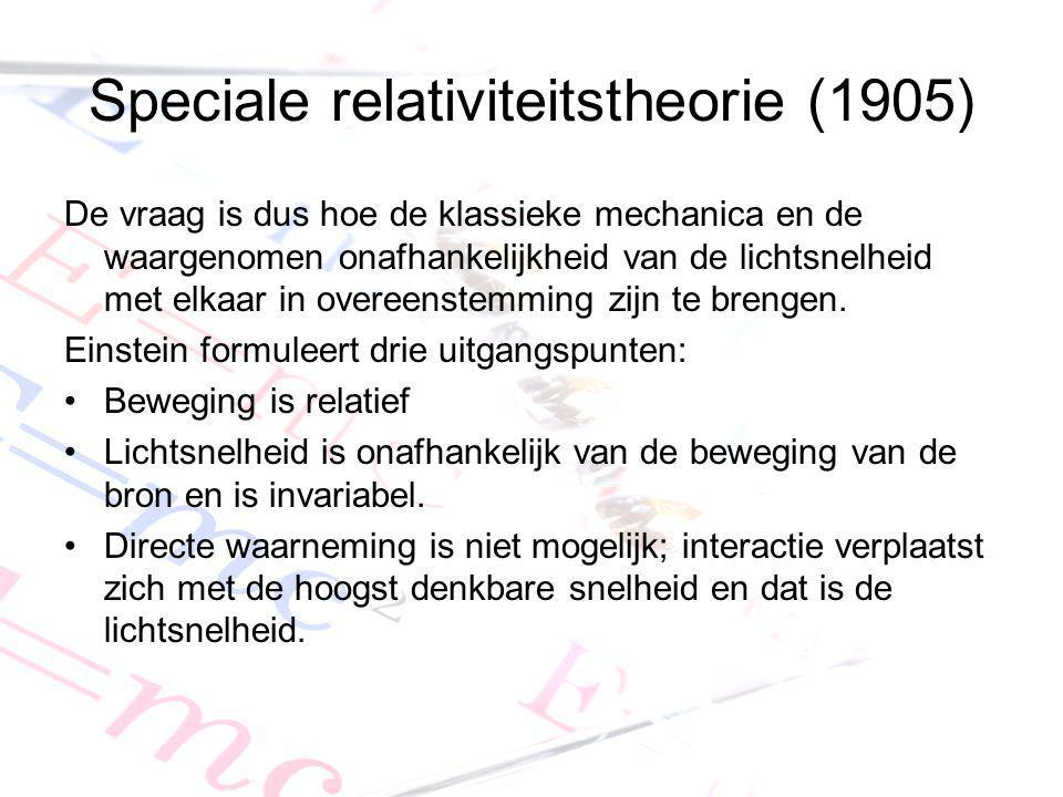 Speciale relativiteitstheorie (1905)