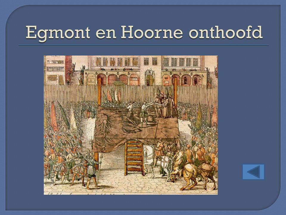 Egmont en Hoorne onthoofd