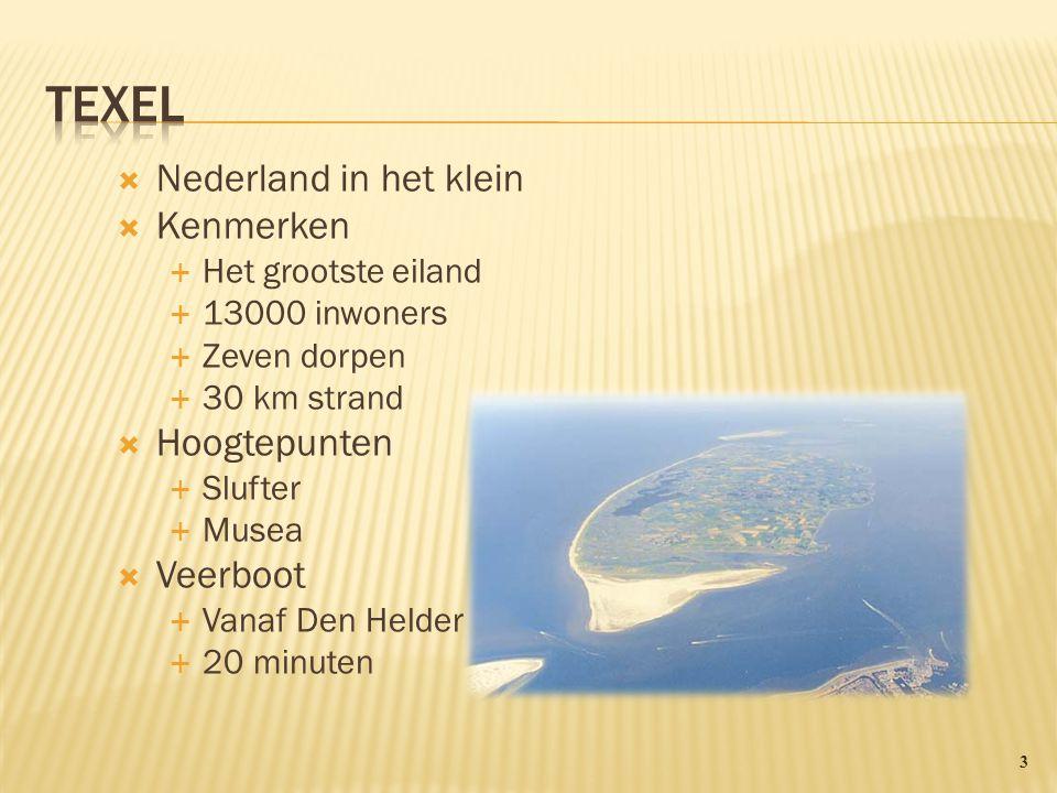 Texel Nederland in het klein Kenmerken Hoogtepunten Veerboot