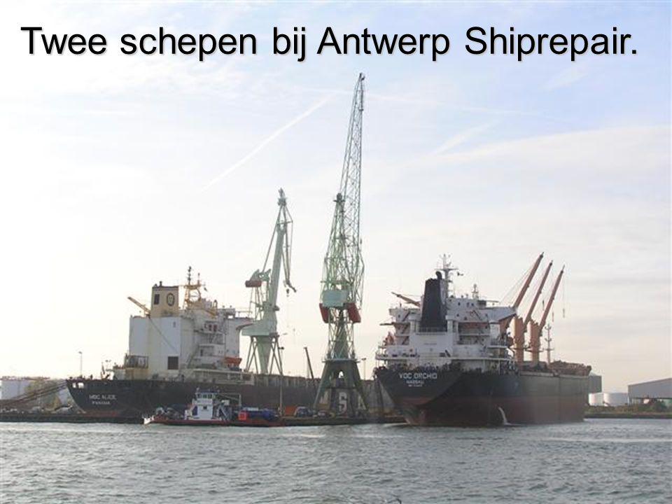 Twee schepen bij Antwerp Shiprepair.