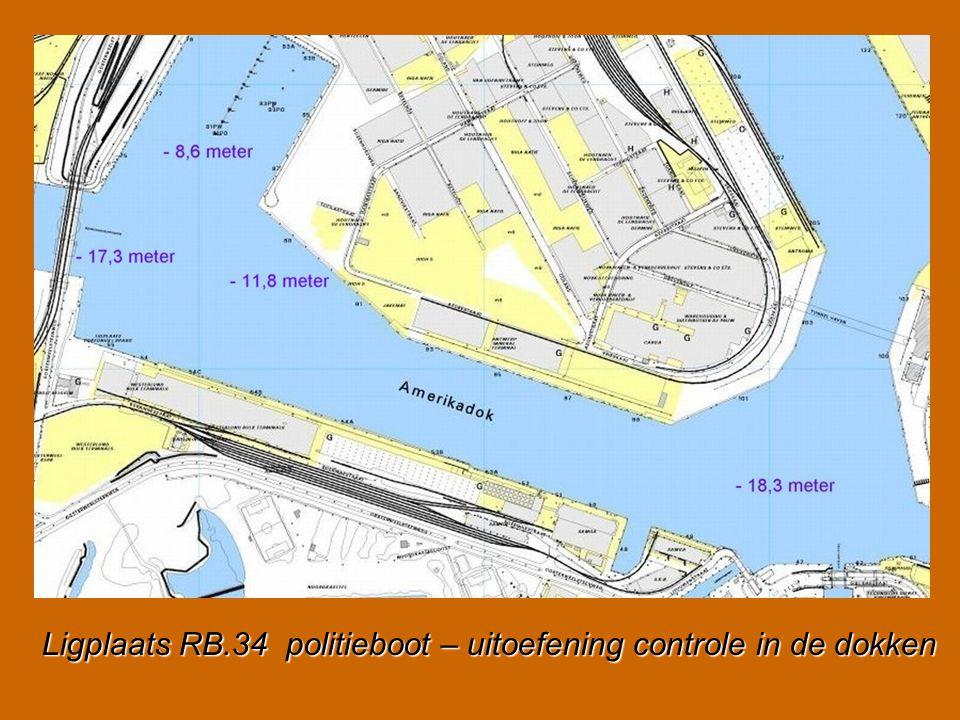 Ligplaats RB.34 politieboot – uitoefening controle in de dokken