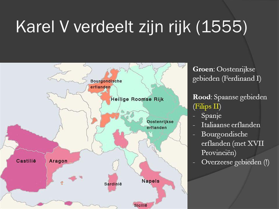 Karel V verdeelt zijn rijk (1555)