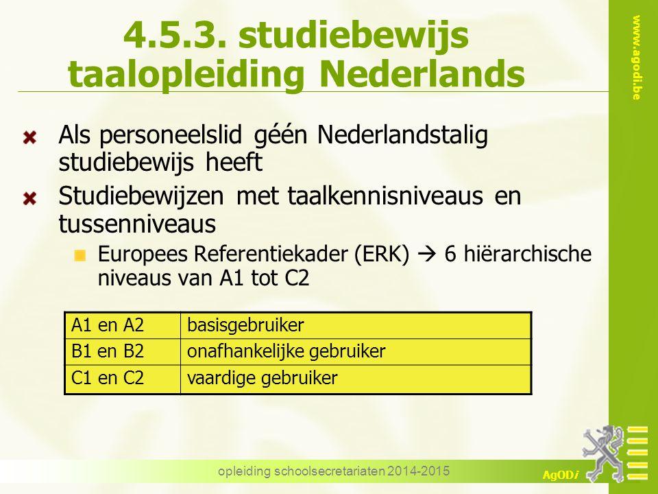 4.5.3. studiebewijs taalopleiding Nederlands