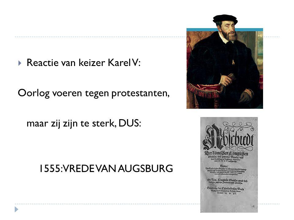 Reactie van keizer Karel V: