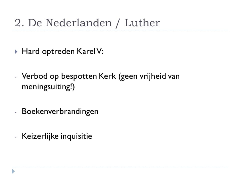 2. De Nederlanden / Luther