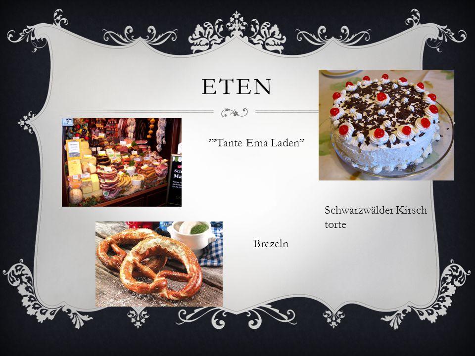 eten '''Tante Ema Laden Schwarzwälder Kirsch torte Brezeln