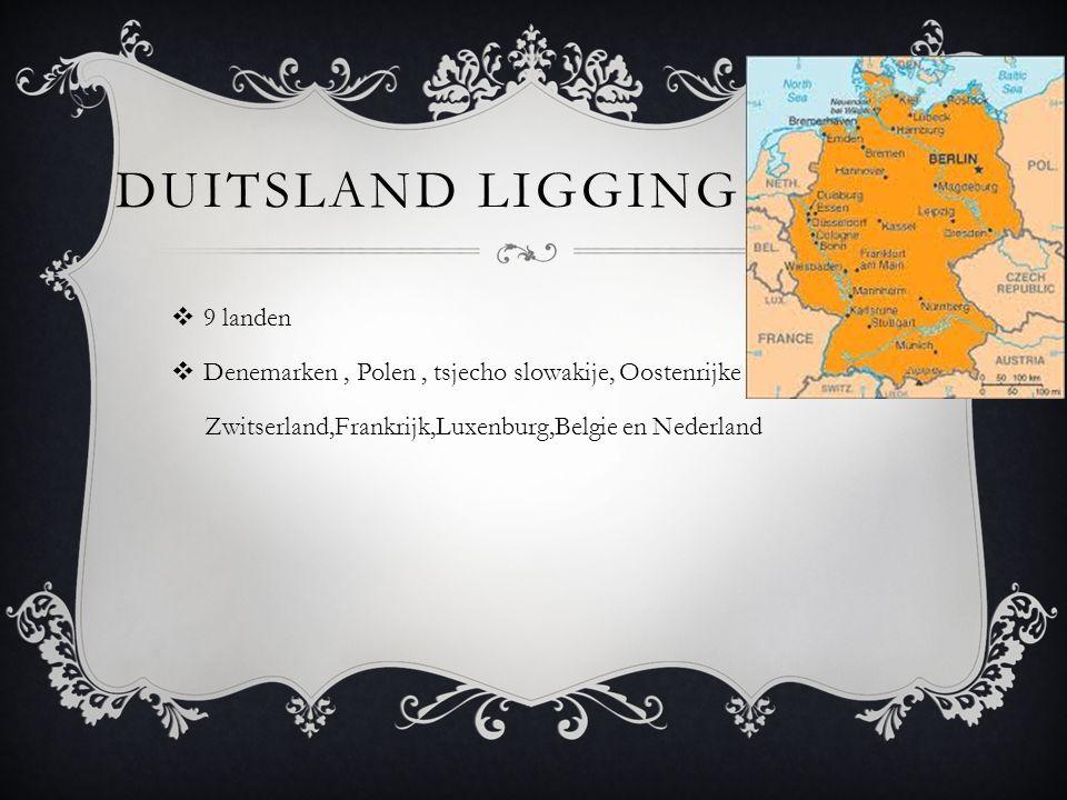 Duitsland ligging 9 landen