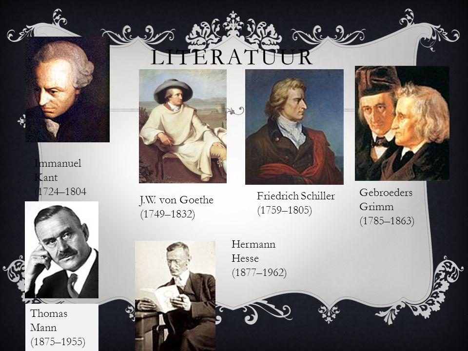 Literatuur Immanuel Kant (1724–1804 Gebroeders Grimm (1785–1863)
