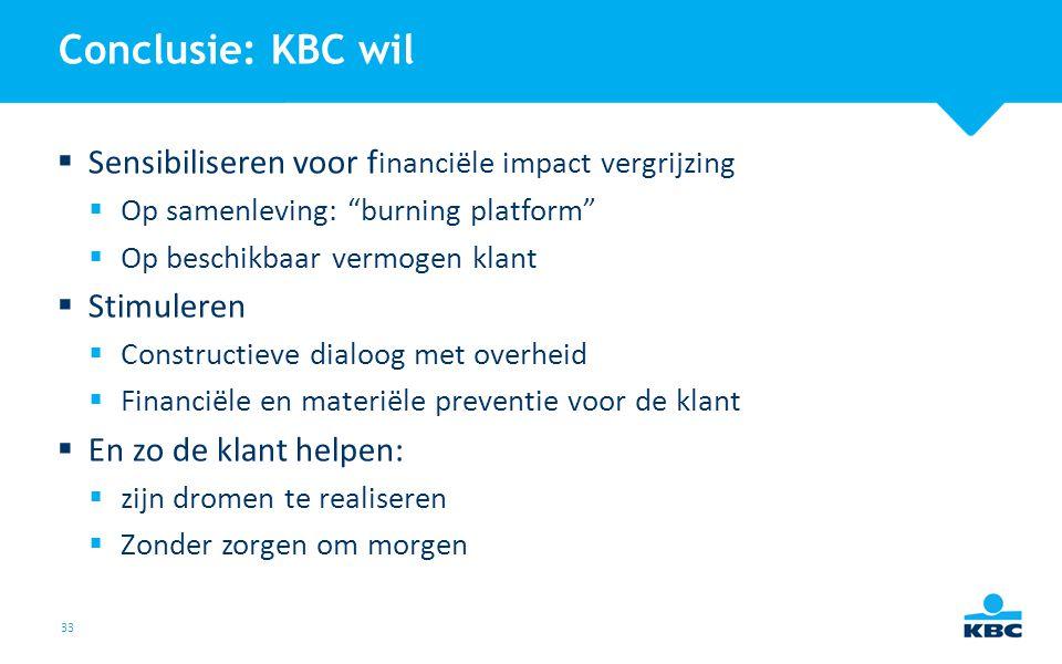 Conclusie: KBC wil Sensibiliseren voor financiële impact vergrijzing
